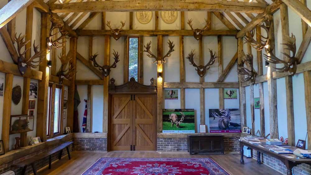 inside Warnham Park Barn