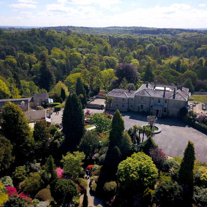 leonardslee house and gardens from the air